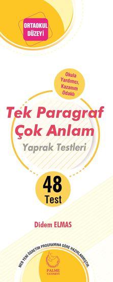 resm TEK PARAGRAF ÇOK ANLAM YAPRAK TEST (48 TEST )