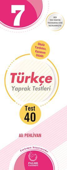 resm 7.SINIF TÜRKÇE YAPRAK TEST ( 40 TEST )