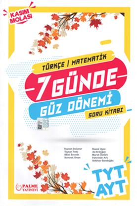 Resim TYT AYT 7 Günde Güz Dönemi Türkçe - Matematik Soru Kitabı